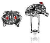 Forzieri Sterling Silver and Cornelian Frog Cufflinks