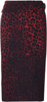 Tom Ford leopard print pencil skirt - women - Silk/Viscose - 42