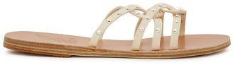 Ancient Greek Sandals Revekka cream leather sandals