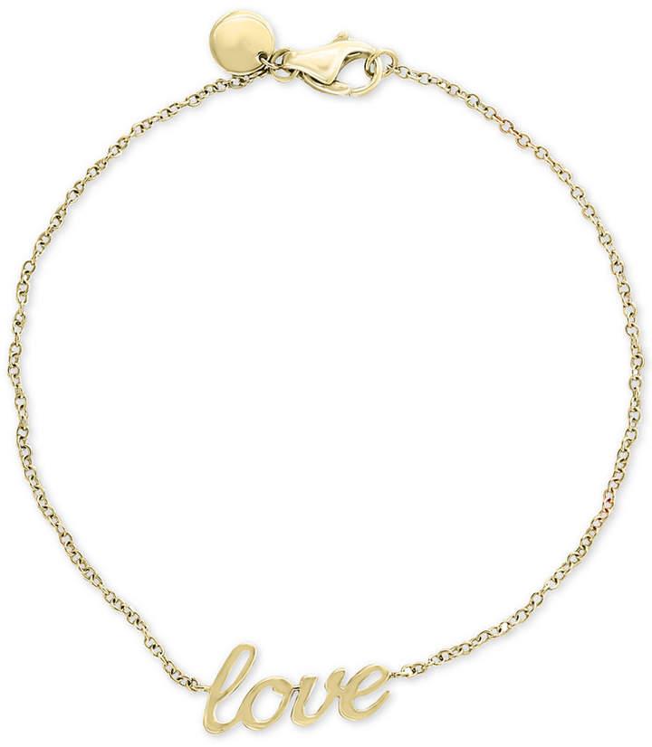 "Effy Kidz Children's ""Love"" Bracelet in 14k Gold"