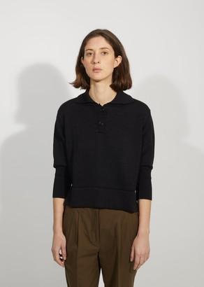 Margaret Howell Linen & Wool Polo Sweater