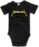 TLK Baby Onesie TLK Metallica Band Logo Babys Jumpsuit Outfits Size 6 M