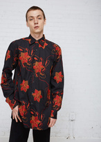 Dries Van Noten Black Cleaver Embroidered Shirt