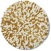 One Kings Lane Set of 4 Mix Bead Coasters - Gold/White
