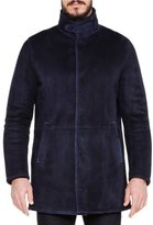 Giorgio Armani 3/4-Length Shearling Fur Jacket, Navy