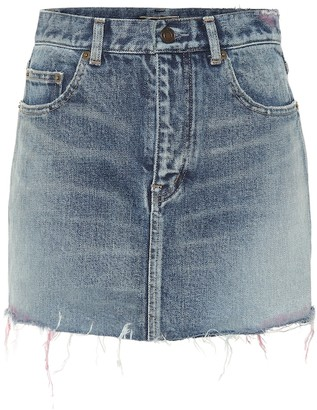 Saint Laurent Denim miniskirt