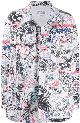 Maison Margiela Graffiti Print Jacket