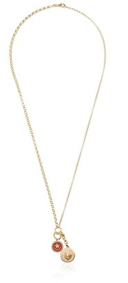 Foundrae 18k gold Strength diamond charm necklace