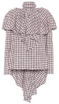 Rosie Assoulin Napkin checked cotton-blend blouse