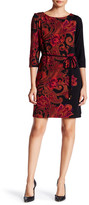 Sandra Darren Key Knit Paisley Dress (Petite)