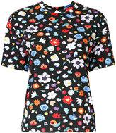 G.V.G.V. floral print T-shirt - women - Polyurethane/Rayon - XS