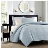 Nobrand No Brand Vancouver Quilted Coverlet Set (Twin/TXL) Blue - 2pc