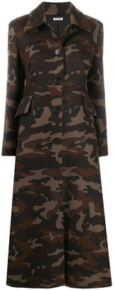 Miu Miu camouflage button-front coat