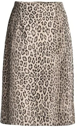 Seventy Leopard-Print Pencil Skirt