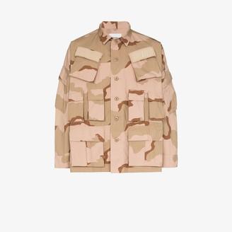Wtaps Camouflage print pocket detail jacket