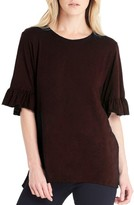 Michael Stars Women's Ruffle Sleeve Top