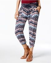 Rewash Juniors' Printed Cropped Soft Pants
