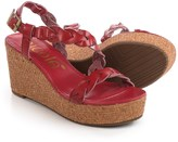 Nicole Perrie Braided Strap Wedge Sandals (For Women)