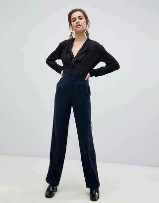 B.young smart suiting trousers-Navy