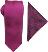 Jf J.Ferrar JF Prom Night Tie and Pocket Square Set