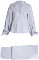 THREE GRACES LONDON Bardeu and Basilio striped cotton pyjama set