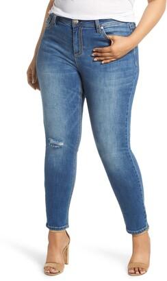 Seven7 Mid Rise Rocker Skinny Jeans