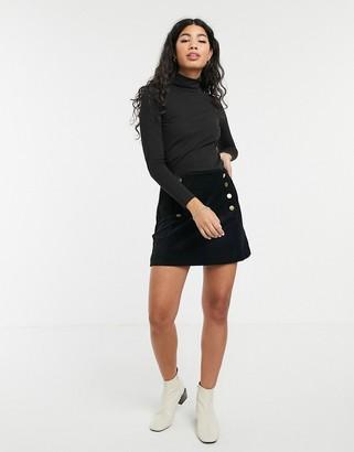 People Tree velvet mini skirt