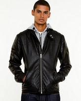 Le Château Leather-Like Hooded Jacket