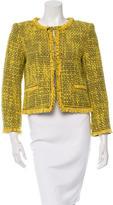 Alice + Olivia Fringe-Trimmed Tweed Jacket
