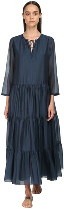 Max Mara 'S Ruffled Cotton & Silk Long Dress