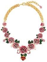 Dolce & Gabbana rose-embellished necklace