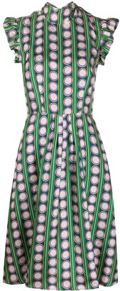 La DoubleJ Bon Ton geometric print dress