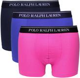 Polo Ralph Lauren Three Pack Navy Purple & Pink Stretch Cotton Trunks