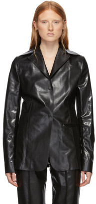 Kwaidan Editions Black Rubberized Workwear Blazer