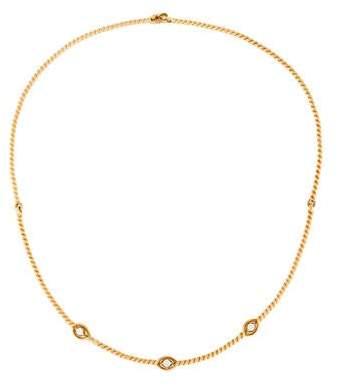 Christian Dior Diamond Twist Rope Choker Necklace