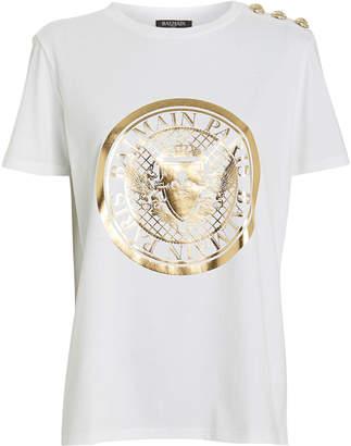 Balmain Medallion Crew Jersey T-Shirt