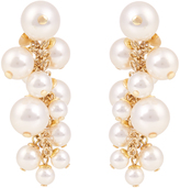 Lanvin Faux-pearl cluster drop earrings