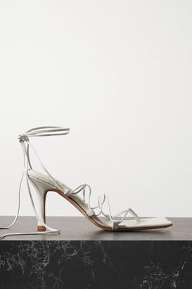 A.W.A.K.E. Mode Rita Leather Sandals - White