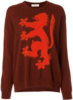 Pringle Intarsia lion jumper