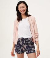 LOFT Etched Floral Riviera Shorts with 4 Inch Inseam in Julie Fit