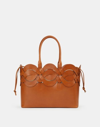Lafayette 148 New York Italian Leather 8 Knot Tote