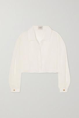 Le Kasha Net Sustain X Lg Electronics Organic Linen-gauze Shirt - Off-white