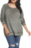 Plus Size Women's Caslon Burnout Sweatshirt