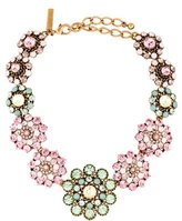 Oscar de la Renta Multicolor Crystal Flower Collar Necklace