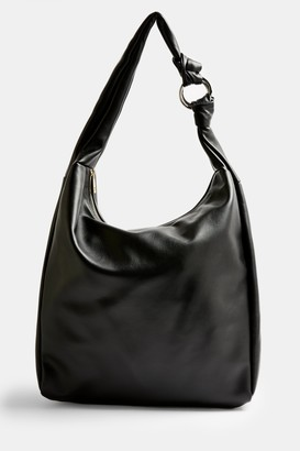 Topshop Black Oversized Knot Hobo Bag