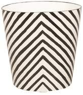 Worlds Away Oval Wastebasket Zebra