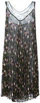P.A.R.O.S.H. pleated floral print dress