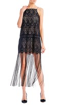 Nicole Miller Lace and Fringe Tank Dress