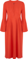 Rachel Zoe Glenys pleated stretch-crepe midi dress
