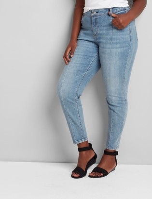 Lane Bryant Signature Fit High-Rise Skinny Jean - Light Wash With Seam